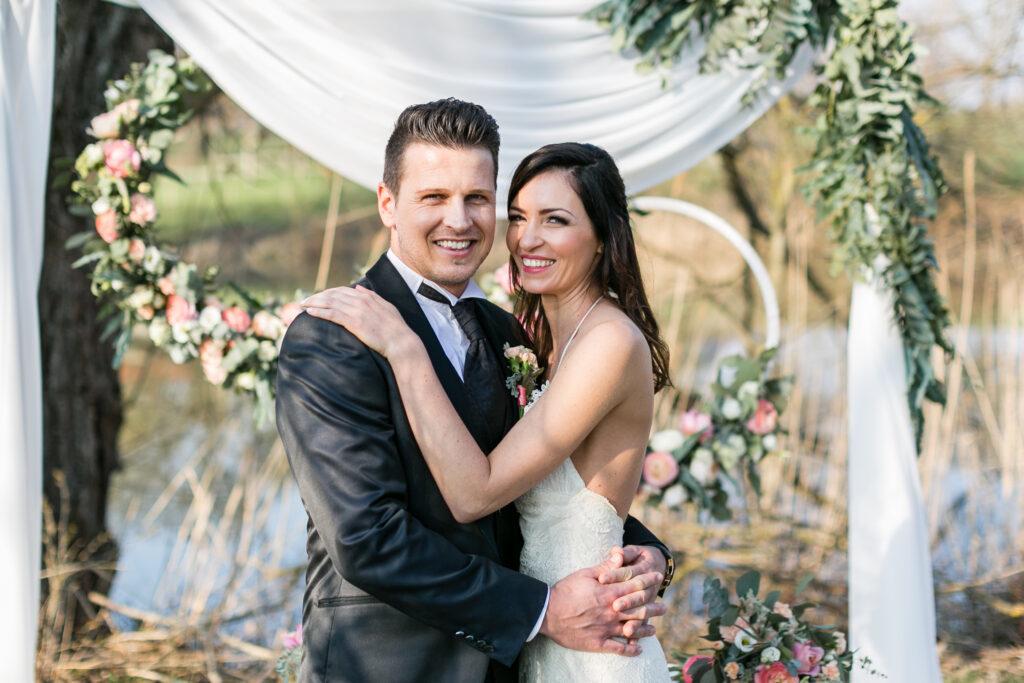 Moderne Hochzeit auf dem Landgut Halsberg